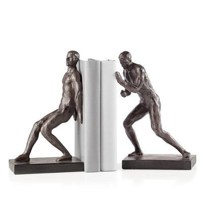 ATHLETIC RESIN MEN BOOKENDS